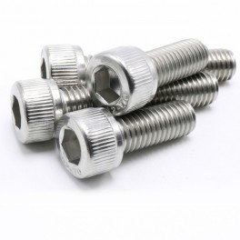10 x M4 x 14mm Acero inoxidable tornillo de cabeza de enchufe hexagonal
