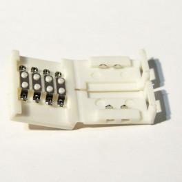 Unión / Conector rígido necesario para unir dos tramos de tira de led RGB , 10MM