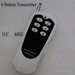 1 x Emisor con 6 botones para receptores de 6 canal 315 mhz de 12v (autolerning code)