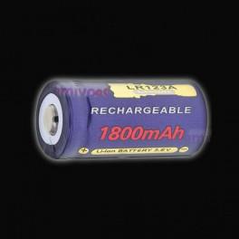Pila LI-ion 16340,(LR123) 3,7v, 1800mAH Recargable