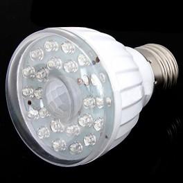Bombilla LED con sensor de movimiento E27 220V de 3W 23LED Blanco frio