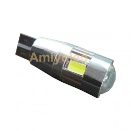 Bombillas led coche T10 W5W 6 smd color blanco LED 5630 (Canbus)