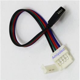 Conector de 4pin 10mm para tira RGB con cable 13cm (5050)
