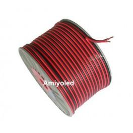 CABLE de 2 hilos rojo y negro 2x0.35mm