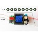 Kit: driver + 9 LED 3W blanco frió 6500-8000K